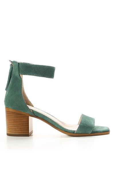 Louis Cardy Clea  Mint  Hakiki Süet Kadın Klasik Topuklu Ayakkabı