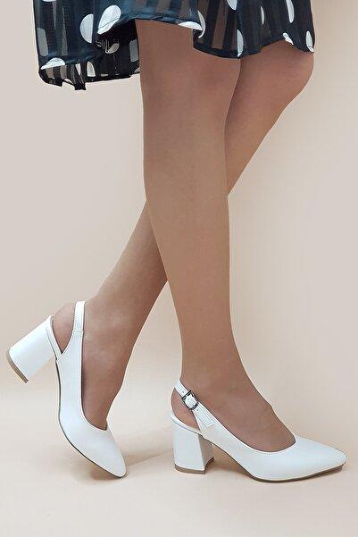 Amanda Beyaz Topuklu Açık Ayakkabı