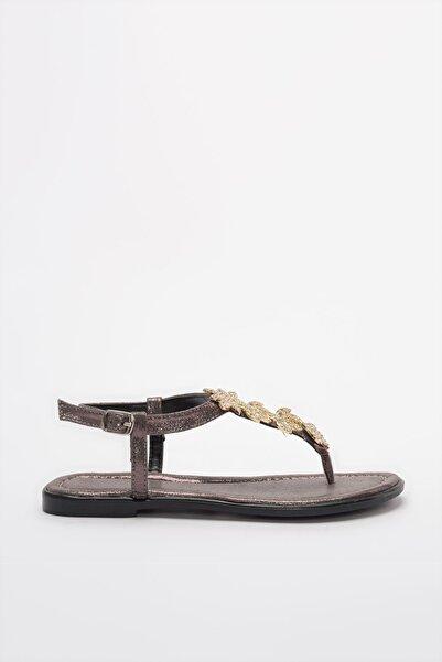 TRENDYOLMİLLA Antrasit Taşlı Kadın Sandalet TAKSS20SD0020