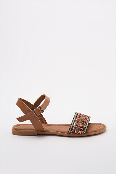TRENDYOLMİLLA Kırmızı Kadın Sandalet TAKSS20SD0018