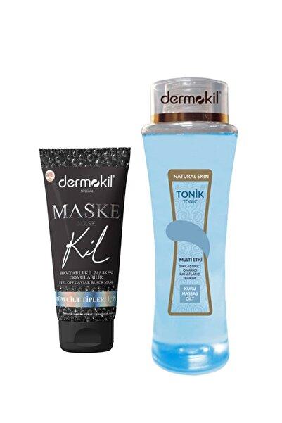 Dermokil Natural Skin Tonik Kuru Ciltler 200 Ml Cilt Temizleyici+ Havyarlı Siyah Kil Maskesi 75 ml.