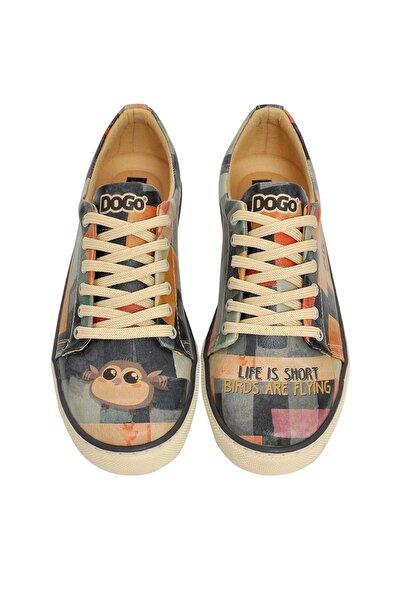 Dogo Life Is Short / Tasarım Baskılı Vegan / Sneakers Kadin Ayakkabi