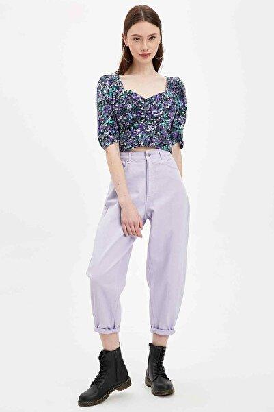 Kadın Pembe Slim Fit Kısa Kollu Bluz R5575AZ.20SP.PN1