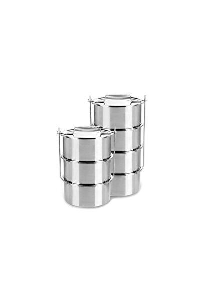 ÖZBİR Paslanmaz Çelik Sanayii Tipi Sefer Tası 3'lü , Tas Boyutu 22 X12 Cm 4,5 Lt X 3 Adet