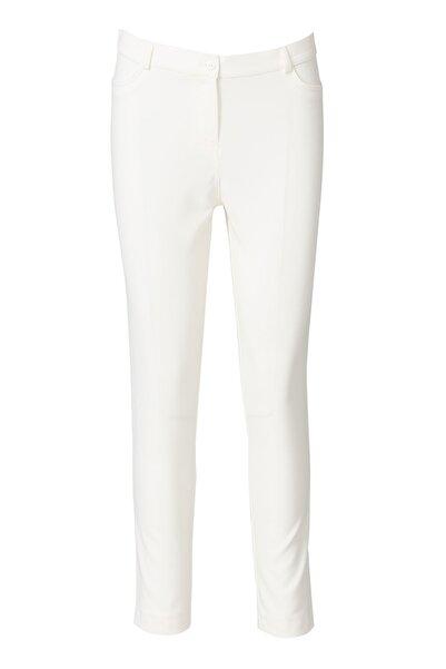 Dar Kesim Bayan Pantolon - 3035 Beyaz