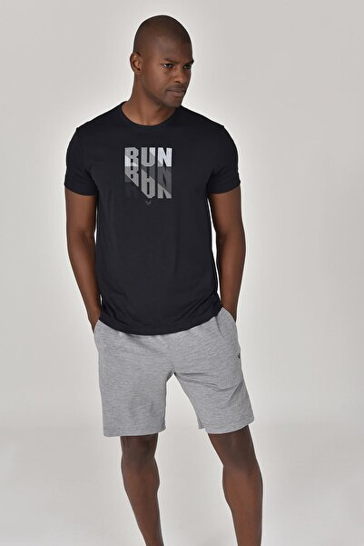 bilcee Siyah Erkek T-Shirt GS-8801