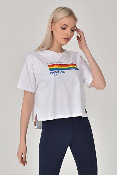 Beyaz Kadın T-Shirt GS-8076
