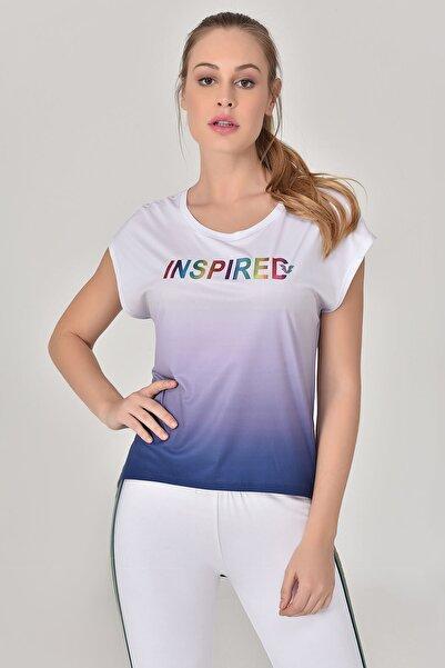 bilcee Lacivert Kadın T-Shirt GS-8078