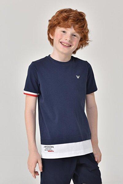 bilcee Lacivert Erkek Çocuk T-Shirt GS-8163
