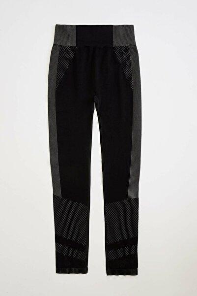 Kadın Siyah Slim Fit Sporcu Tayt R0142AZ.20SP.BK27
