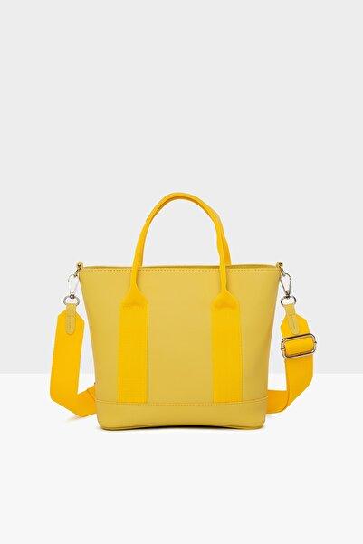 Bagmori Sarı Kadın Ekstrafor Detaylı Askılı Çanta M000004337