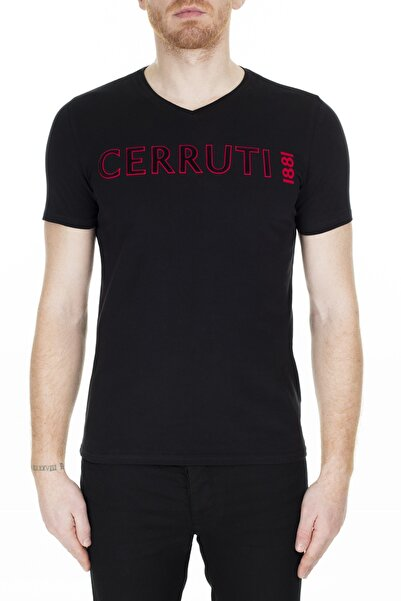 Cerruti Erkek Siyah T-Shirt 203-001645