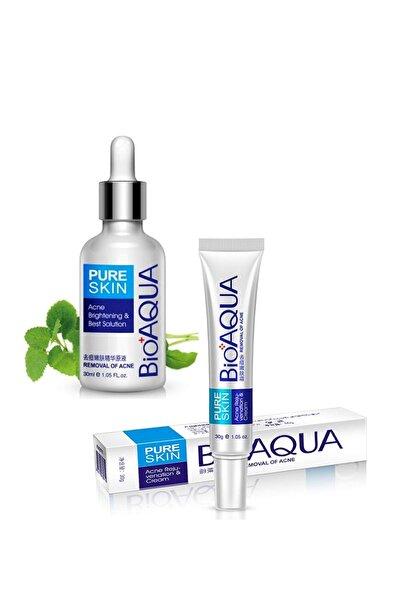 Bioaqua Pure Skin Akne Sivilce ve İz Serumu ve Kremi Seti 2 parça 69477907807SK