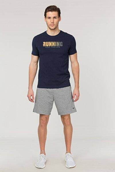 Lacivert Pamuklu Erkek T-Shirt FS-1681