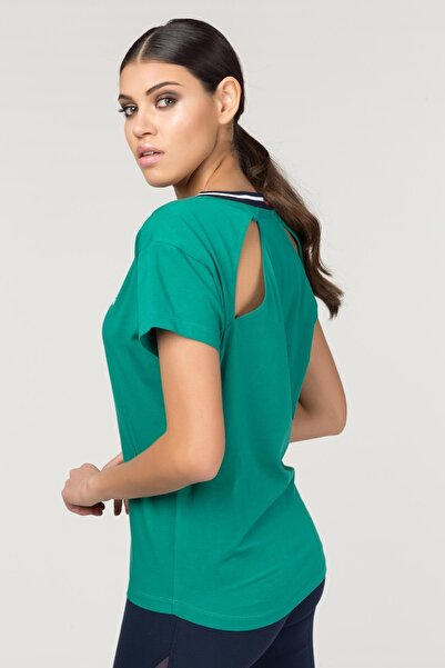 Yeşil Sırt Detaylı Kadın  T-Shirt FS-1120