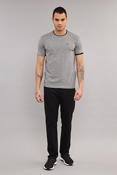 bilcee Gri Pamuklu Erkek T-Shirt ES-2374