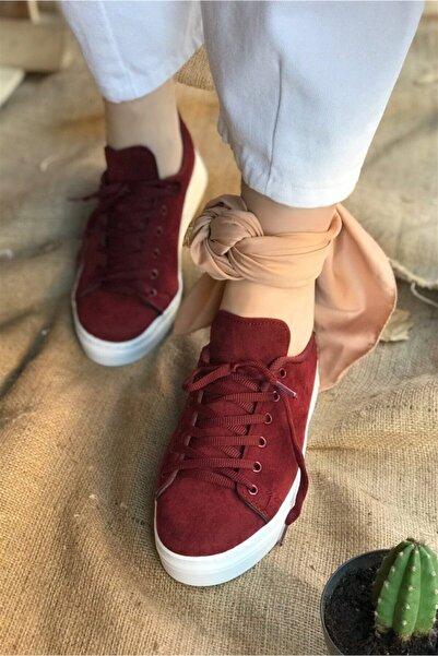 Hepsi Moda Vans Nubuk Spor Ayakkabı - Bordo