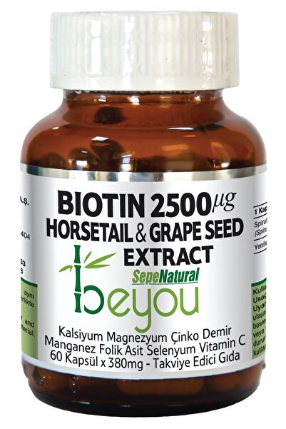 Sepe Natural Biotin 2500 Mcg Beyou Plus 60 Kapsül 880 mg B7 Vitamin