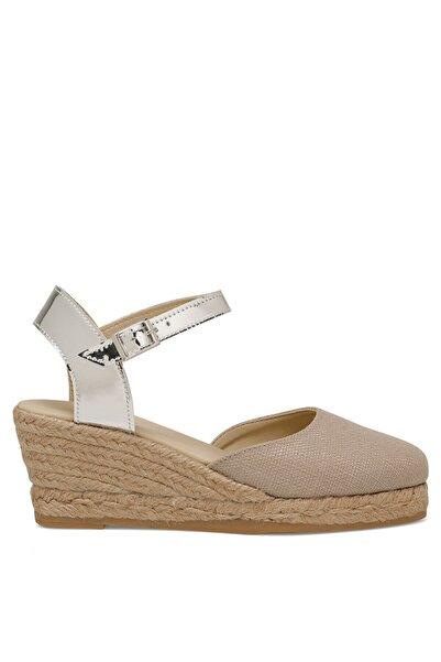 Morısot Koyu Bej Kadın Dolgu Topuk Sandalet