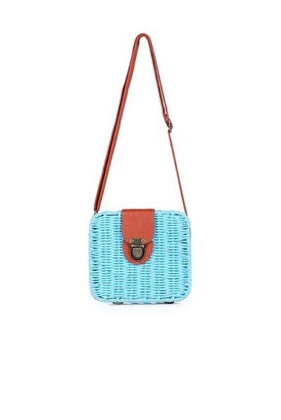 Kadın Mavi Hasır  Çanta 1015