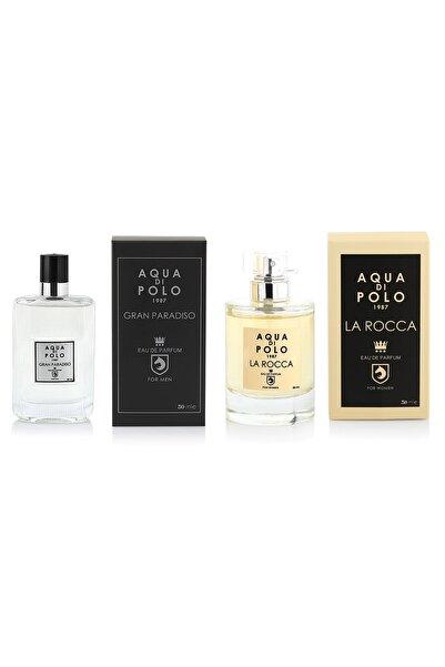 Aqua Di Polo La Rocca Kadın Parfüm ve Gran Paradiso Erkek Parfüm 2'li Fırsat Ürün Seti STCC000701