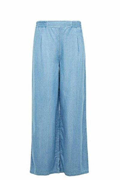 Kadın Mavi Relax Fit Pantolon K4646AZ.20SM.NM39