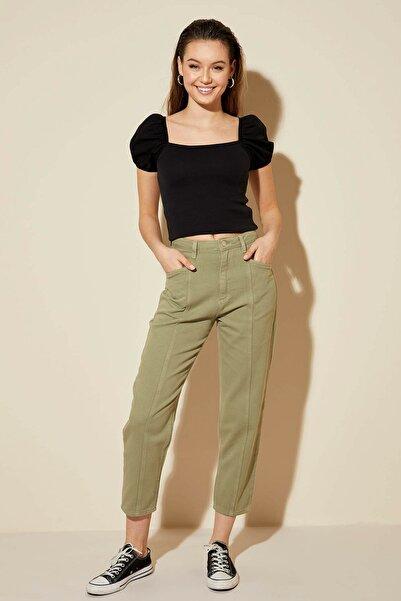 Kadın Siyah Slim Fit Kısa Kollu T-Shirt N7363AZ.20SP.BK27