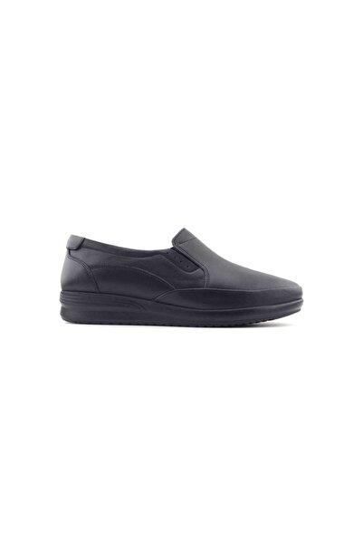 Kayra Hakiki Deri Kadın Günlük Ayakkabı-siyah 04