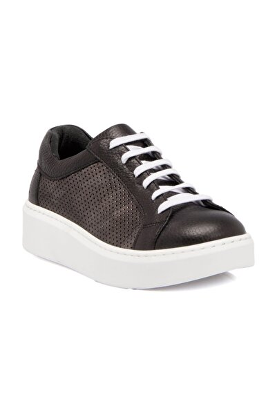 Tergan Deri Siyah-Simli Kadın Ayakkabı 64207N1Q