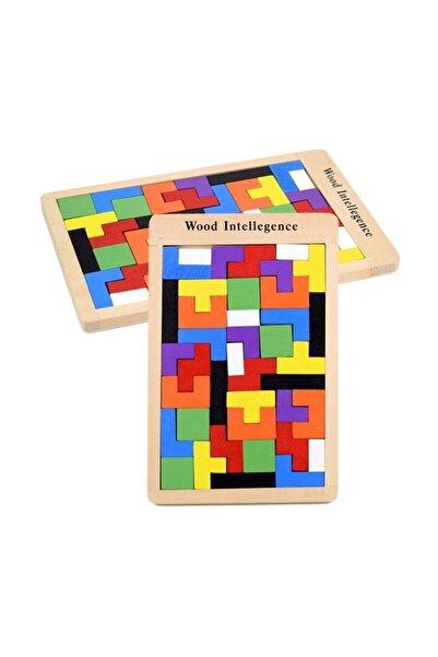 AyasEğiticiOyuncak Ahşap Blok Tetris Oyunu Büyük Ve Kalın Model