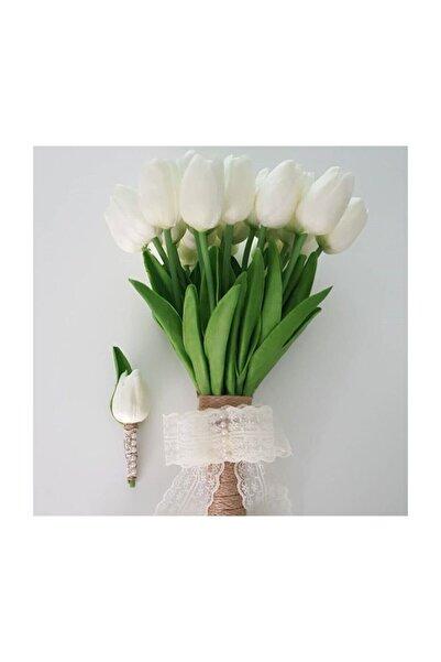 Evsay Gelin Çiçeği Gelin Buketi Lale Buketi Ve Damat Yaka Çiçeği