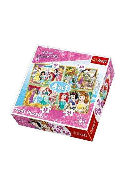 Trefl Happy Day Of Princesses 35+48+54+70 Parça Puzzle /