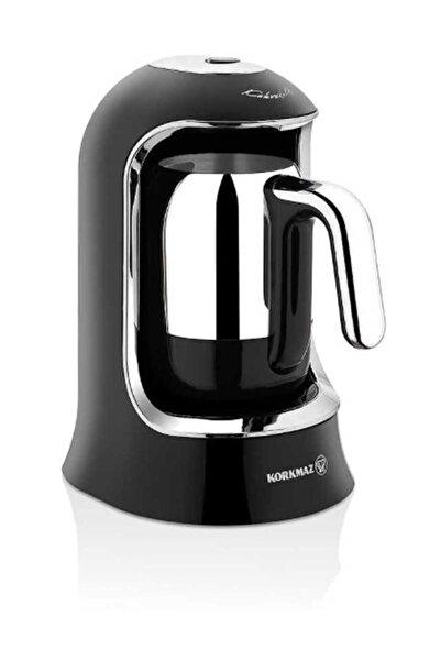 KORKMAZ A860-07 Korkmaz Kahvekolik Siyah/Krom Otomatik Kahve Makinesi
