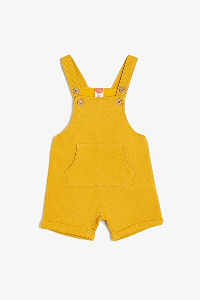 Koton Sarı Erkek Çocuk Cep Detayli Tulum-02510