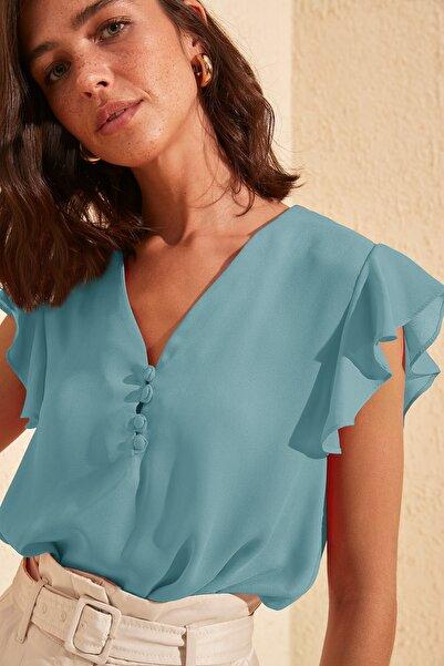 Mint Düğme Detaylı Bluz TWOSS20BZ0894