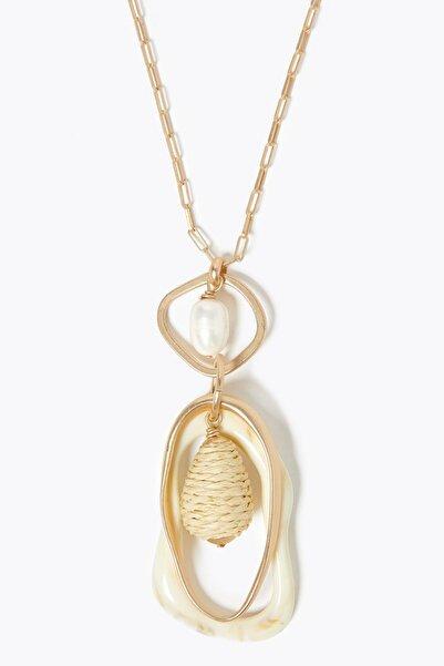 Marks & Spencer Kadın Sarı Deniz Kabuğu Sallantılı Kolye T06003081D
