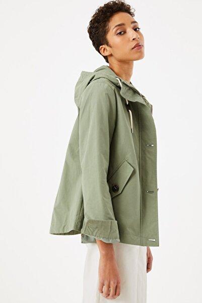 Marks & Spencer Kadın Yeşil Kapüşonlu Parka T49004127