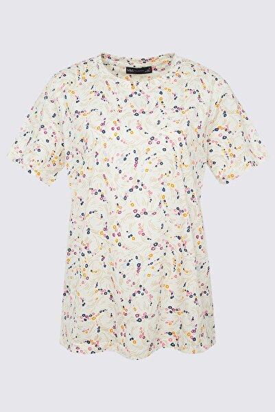 Marks & Spencer Kadın Beyaz Kısa Kollu Straight Fit T-Shirt T41008015X