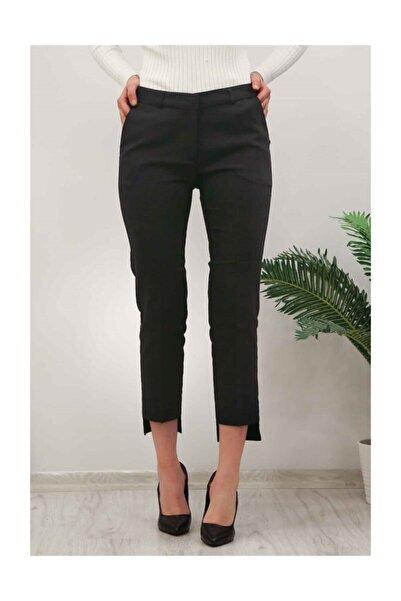 Madmext Mad Girls Siyah Klasik Paça Detaylı Kumaş Pantolon Mg116
