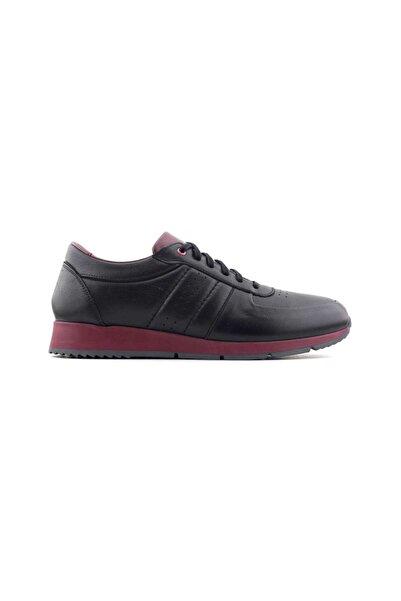 Kayra Catchers 2008 Hakiki Deri Erkek Ayakkabı-siyah Bordo
