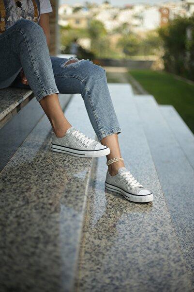 ESPARDİLE Gümüş Kadın Spor Ayakkabı