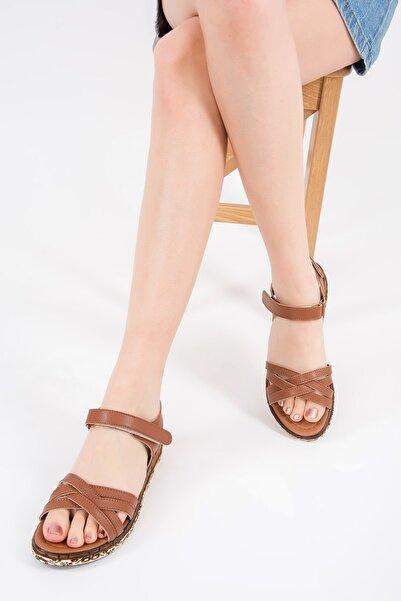 Fox Shoes Kadın Taba Sandalet F288061409