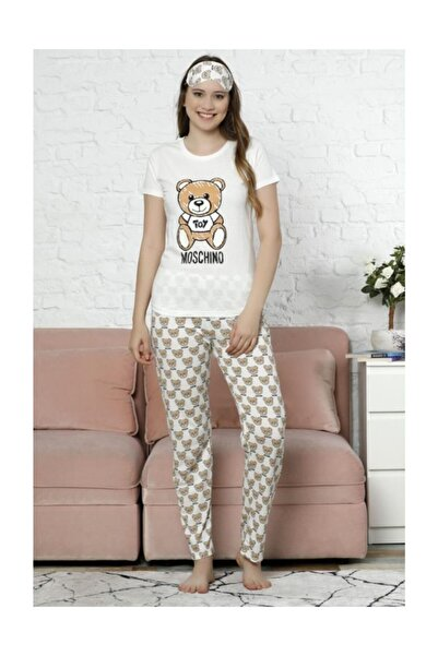 Lukas Kadın Pijama Takımı Kırık Beyaz - 2451.1059