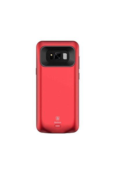 Baseus Basues Samsung Galaxy S8 5000mah Minimal Şarjlı Kılıf-kırmızı