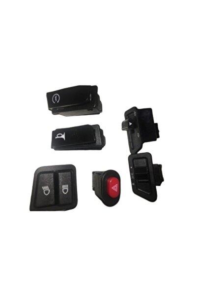 RMG Scooter Cup Düğme Seti 6lı Marş+korna+sellektör+sinyal+far+dörtlü