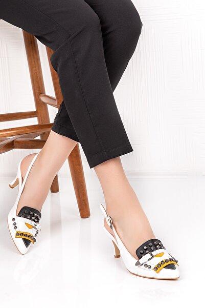 Gondol Kadın Hakiki Deri Klasik Topuklu Ayakkabı