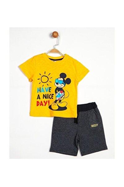 Disney Mickey Mouse Erkek Şort T-shirt 2'li Takım Mc14047