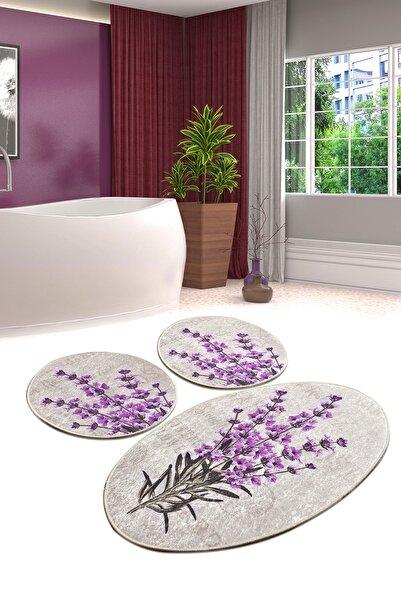 Chilai Home Lavender Djt 3 Lü Set Banyo Paspası Klozet Takımı