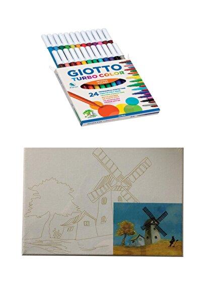 Giotto Turbo Color 24'lü Canvas Baskılı Tual 18x24 cm