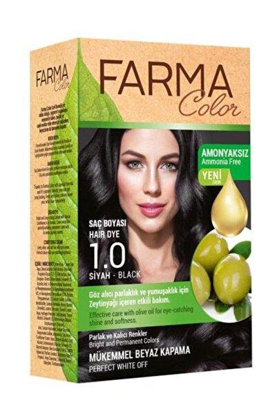 7090226 FarmaColor Saç Boyası Amonyaksız Siyah 1.0